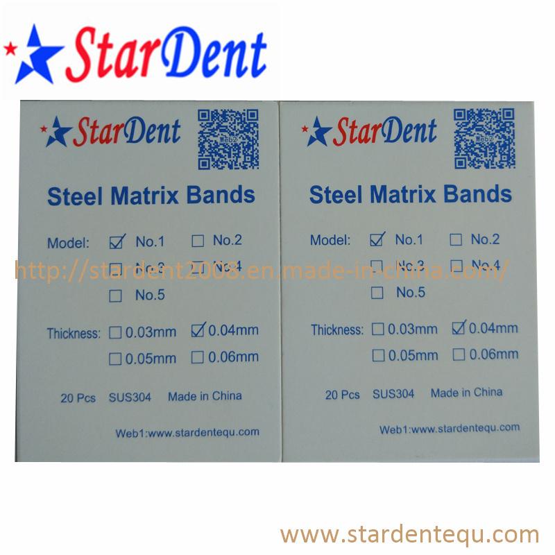 Dental Steel Matrix Bands of Hospital Medical Lab Surgical Diagnostic Equipment