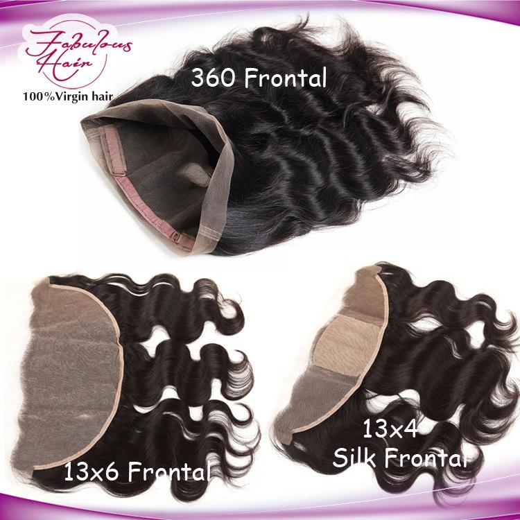 8A Grade Brazilian Virgin Human Hair Full 360 Lace Frontal