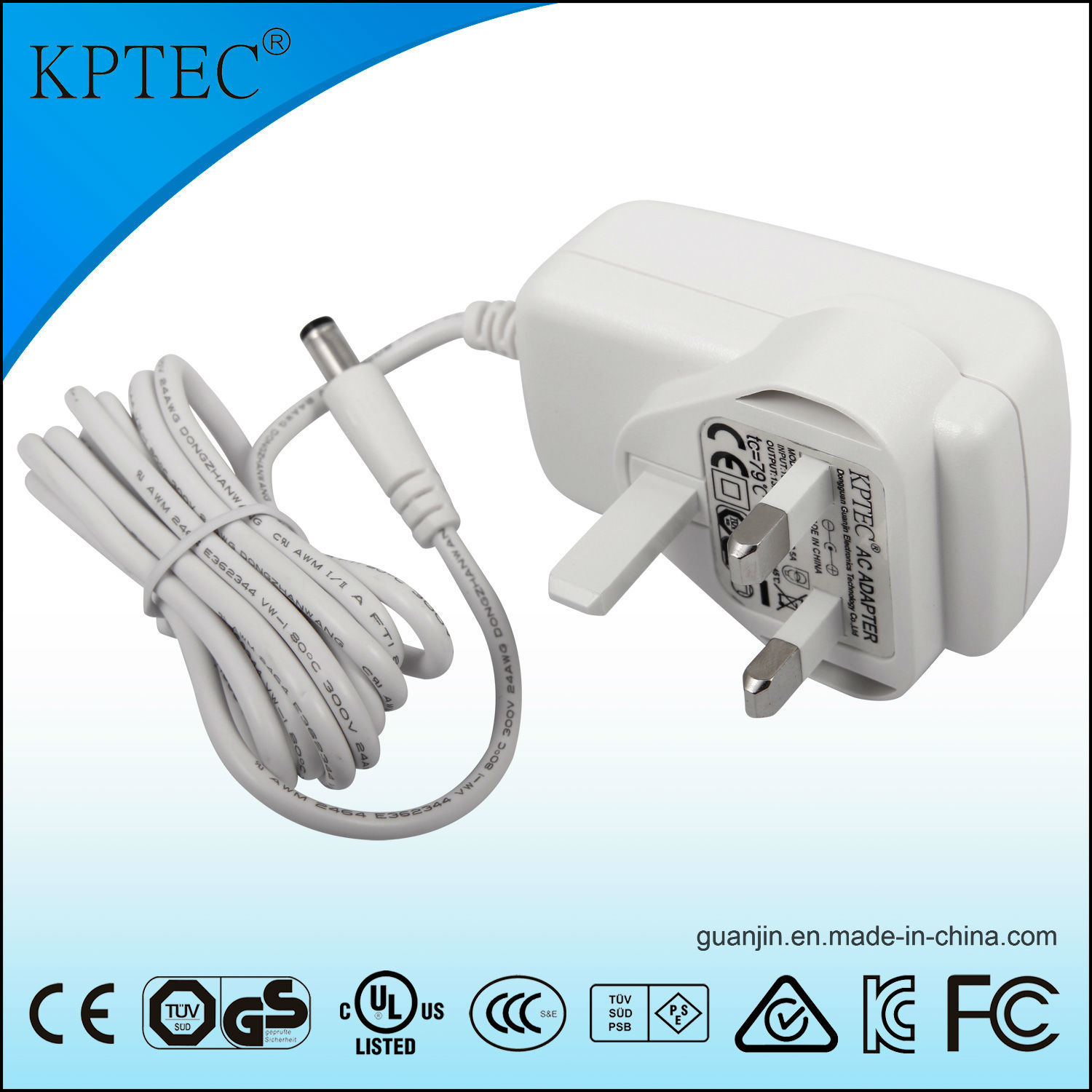 15V/1A/15W AC/DC Switching Power Adapter Supply with Ce Certificate