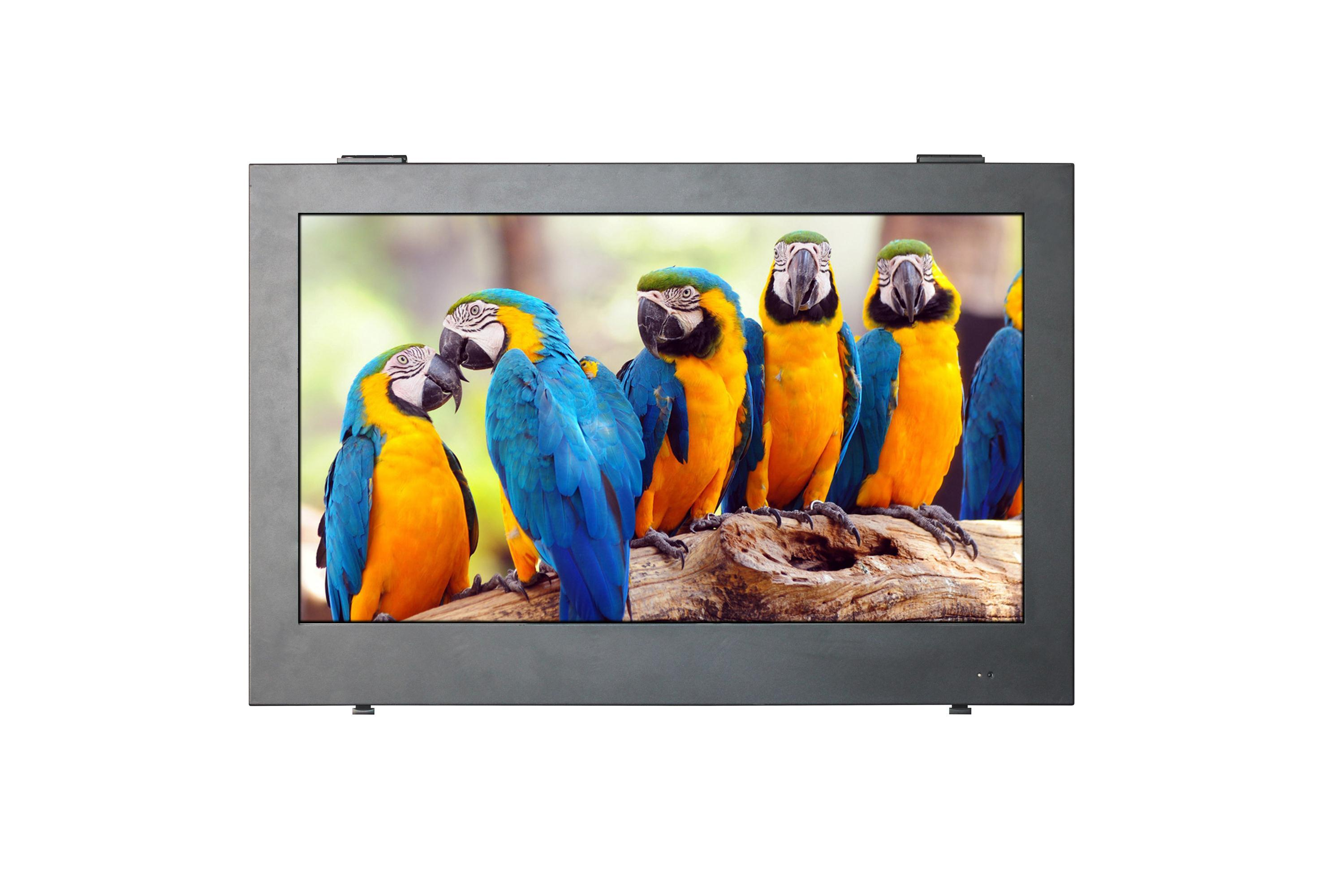 Outdoor Waterproof TV with IP65 Full Metal Enclosure Design