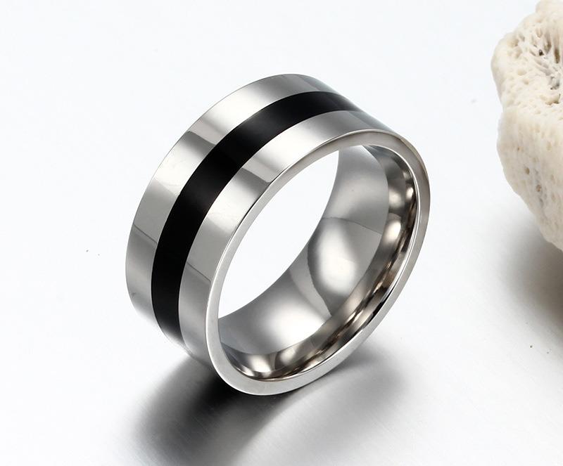Titanium Stainless Steel Simple Fashion Designer Man Rings Jewelry