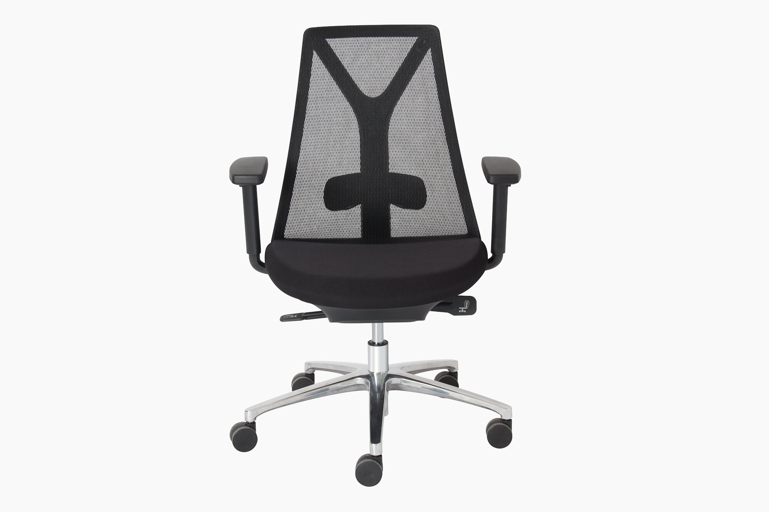 BIFMA Certificate Office Manager Mesh Swivel Chair with PU Armrest (HY-168)