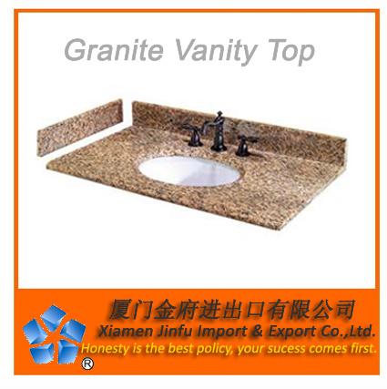 China granite vanity tops prefabricated slabs china granite vanity tops granite countertops for Premade granite bathroom vanity tops