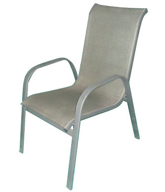 China Outdoor Patio Sling Stacking Chair Cts112 China