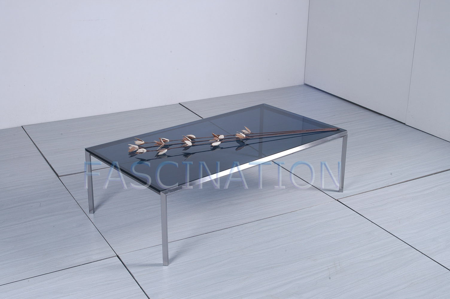 China Glass Furniture Stainless Steel Glass Coffee Table 2b 002b China Stainless Steel