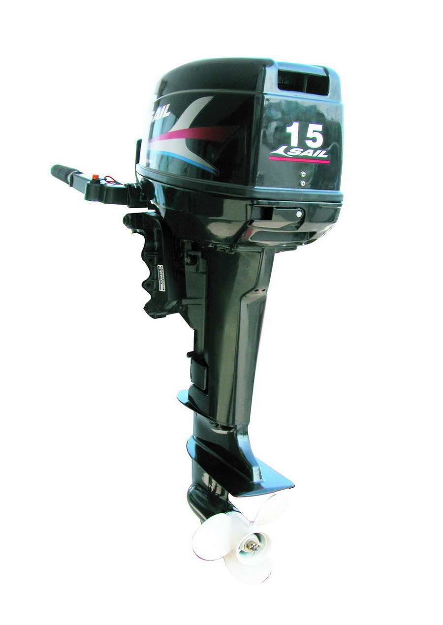 Electric Start 15hp 2 Stroke Outboard Motor With Tiller