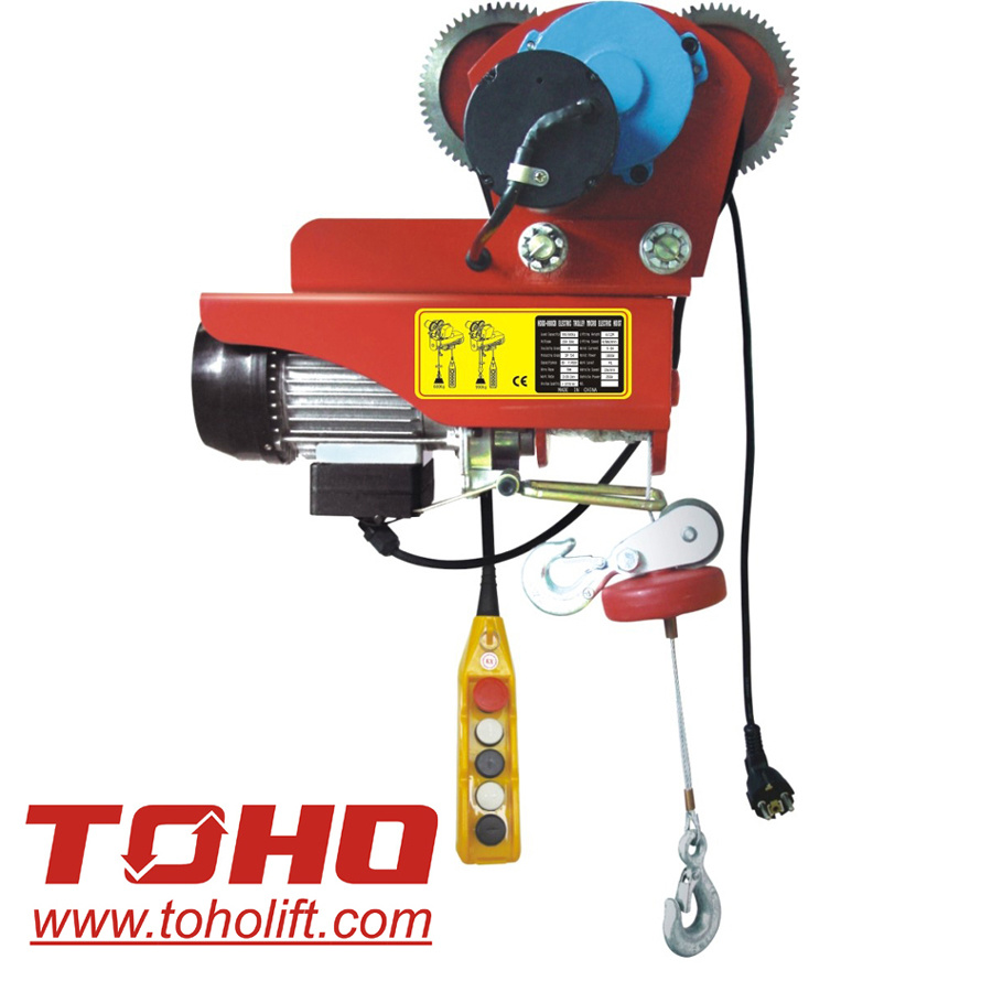 China Mini Electric Wire Hoist With Moving Trolley China