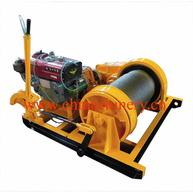 Gasoline Engine Powered Winch 5000kg