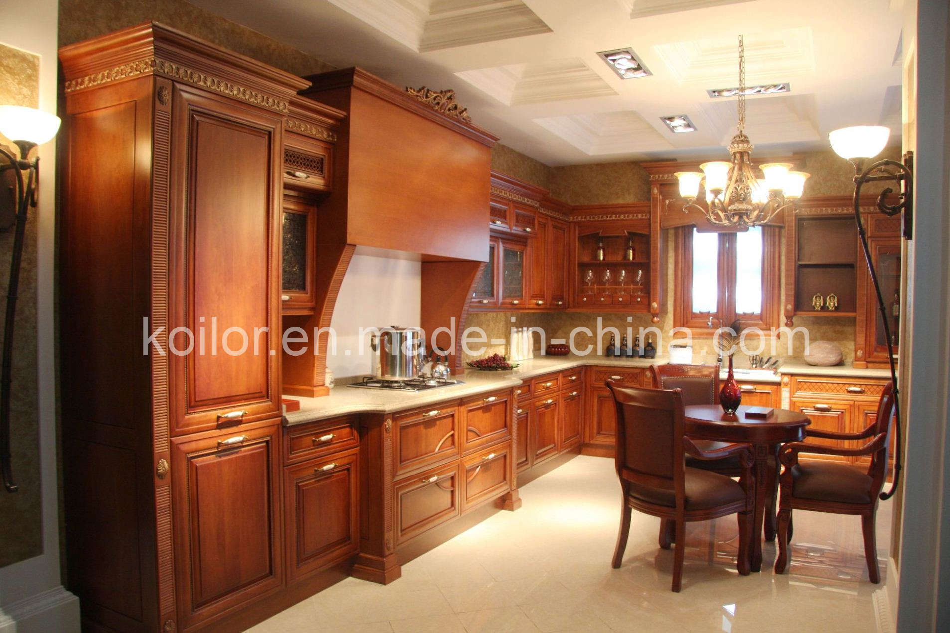 China kitchen cabinet solid wood cabinets royal