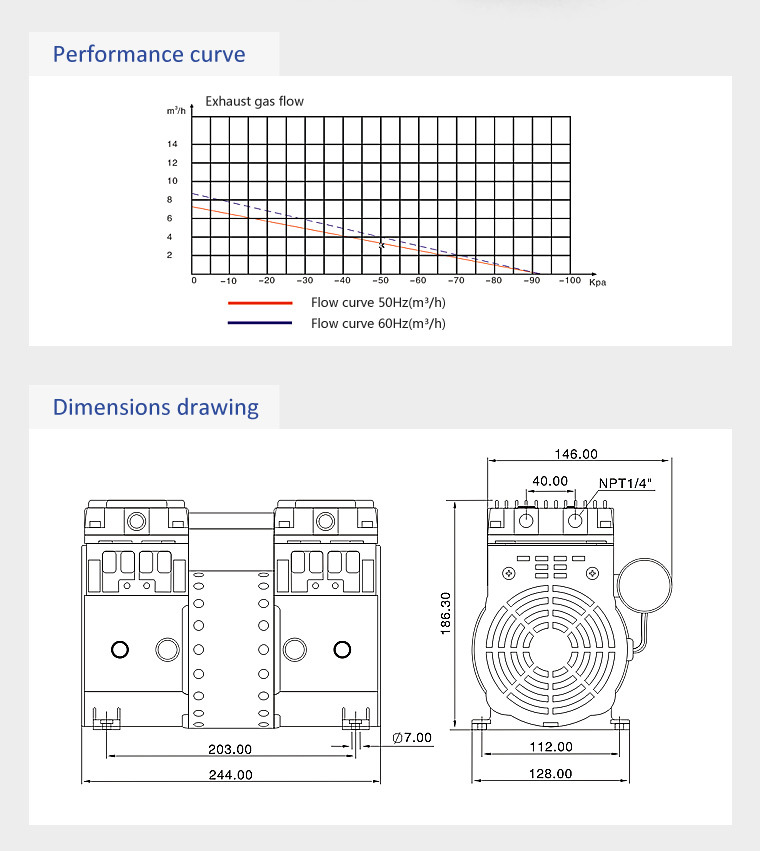 Hokaido Mini Potable Oilless Piston Air Compressor (HP-1400V)