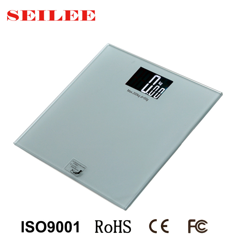 200kg Large Screen (88X55mm) Glass Electronic Hotel Room Personal Body Scale