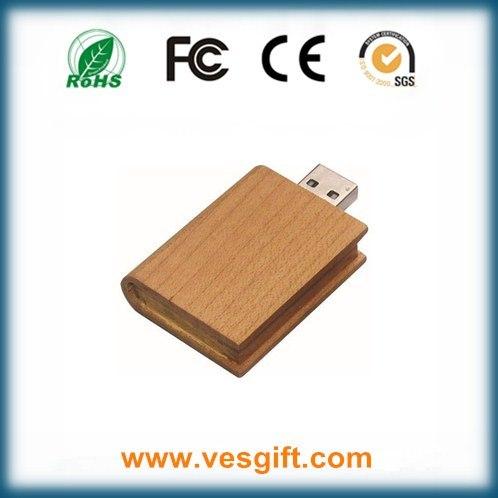 Cute Round Shape Wooden USB Flash Memory Stick