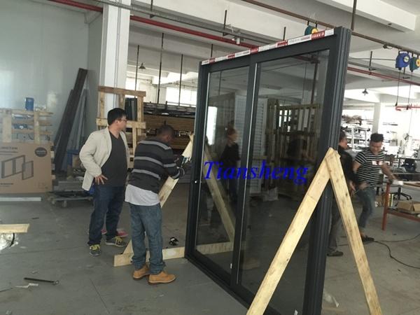 Customized Three Tracks Aluminum Sliding Door with Crim Safe Screen