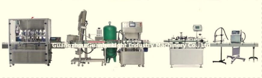 High-Quality Bottle Sauce Filling Machine with Capping and Labeling Line (GHAPF-6)