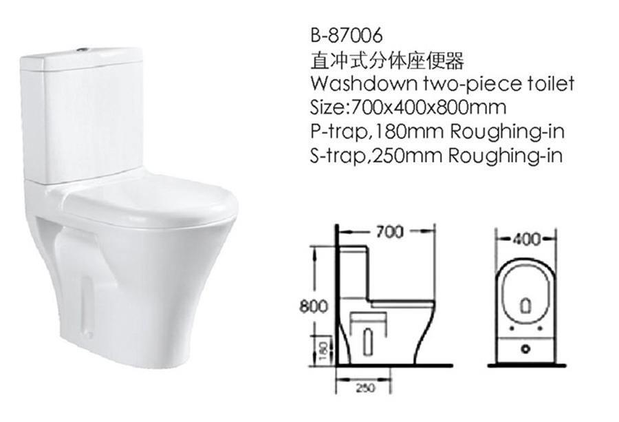 Bathroom Furniture Two-Pieces Toilet (87006)