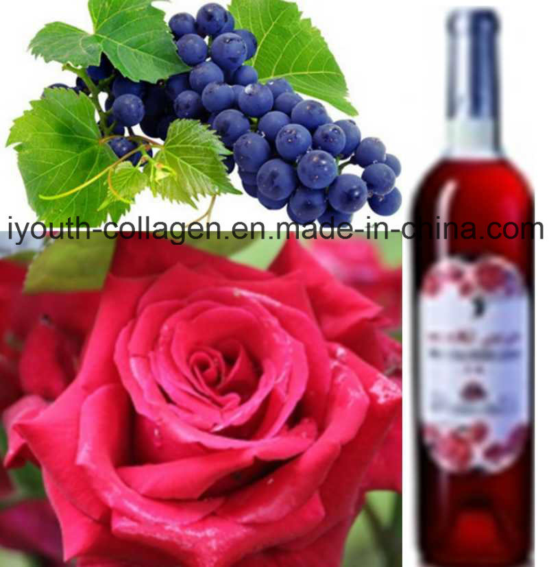 Top Wine, EU Wild Rose Cabernet Sauvignon Wine Chinese Patent/Sweet Rich Anthocyanin, Amino Acids, Anticancer, Antiaging, Blood Tonic, Prevention Ischemic Strok