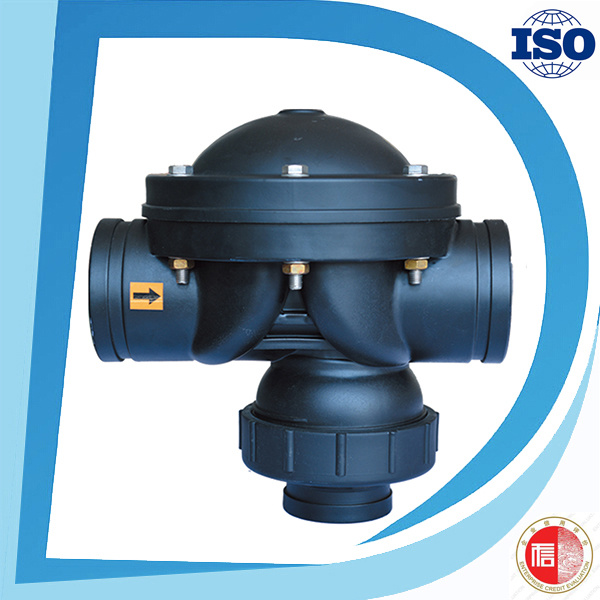 PA6 Nylon Hydraulic Pneumatic Valve Material 2 Way Diaphragm Valves for Industrial Use
