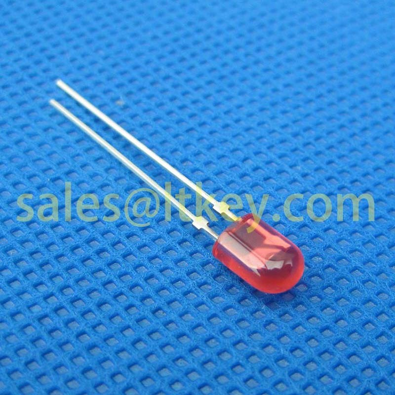 5mm Oval Red LED Lamp