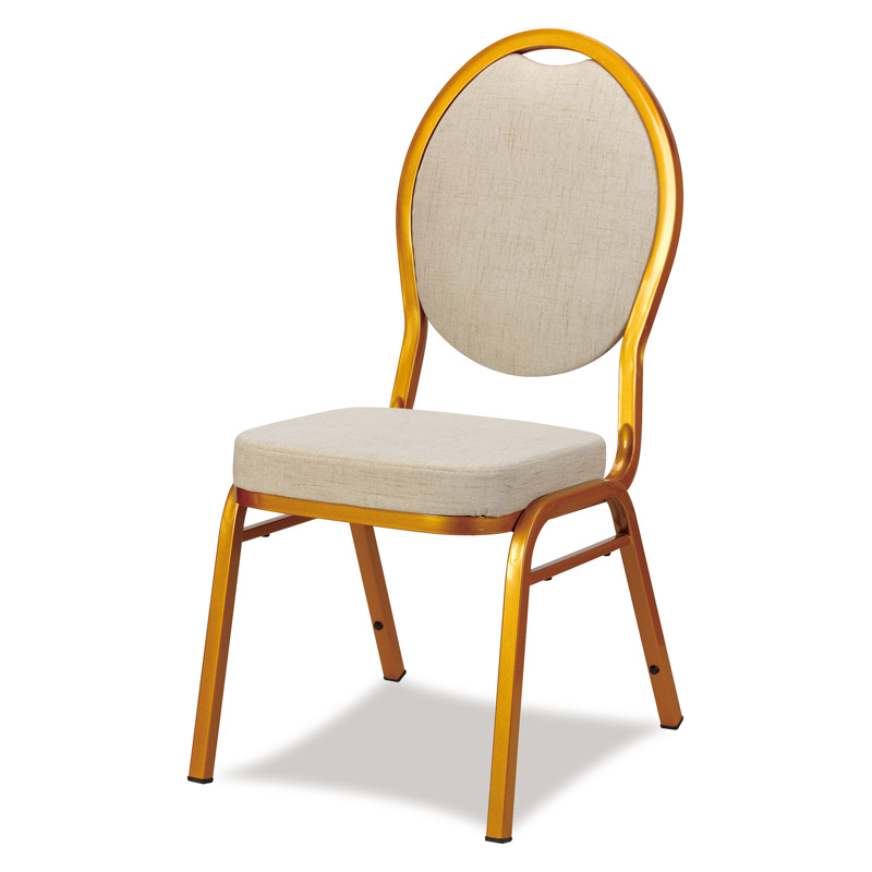 Comfortable Good Quality Stackable Metal Hotel Banquet Chair