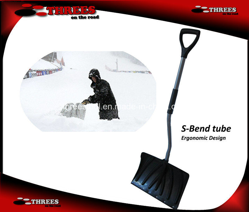 Curved Handle Plastic Snow Shovel (1507153)