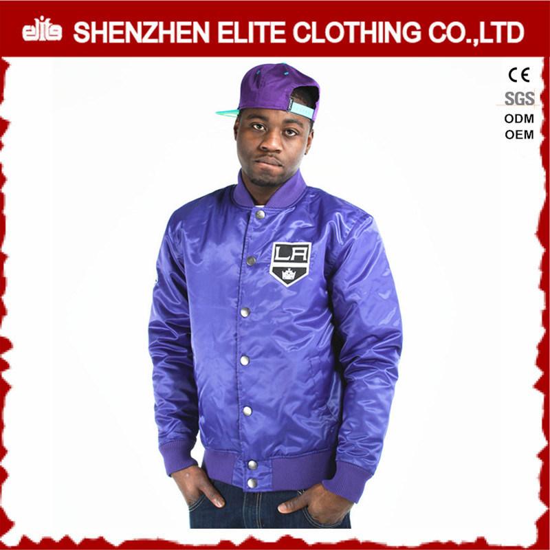 Wholesale Plain Custom Embroidery Varsity Jacket Satin