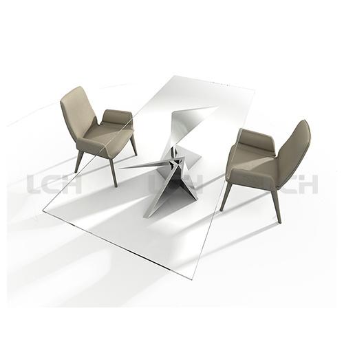 Glass Modern Design Dining Table