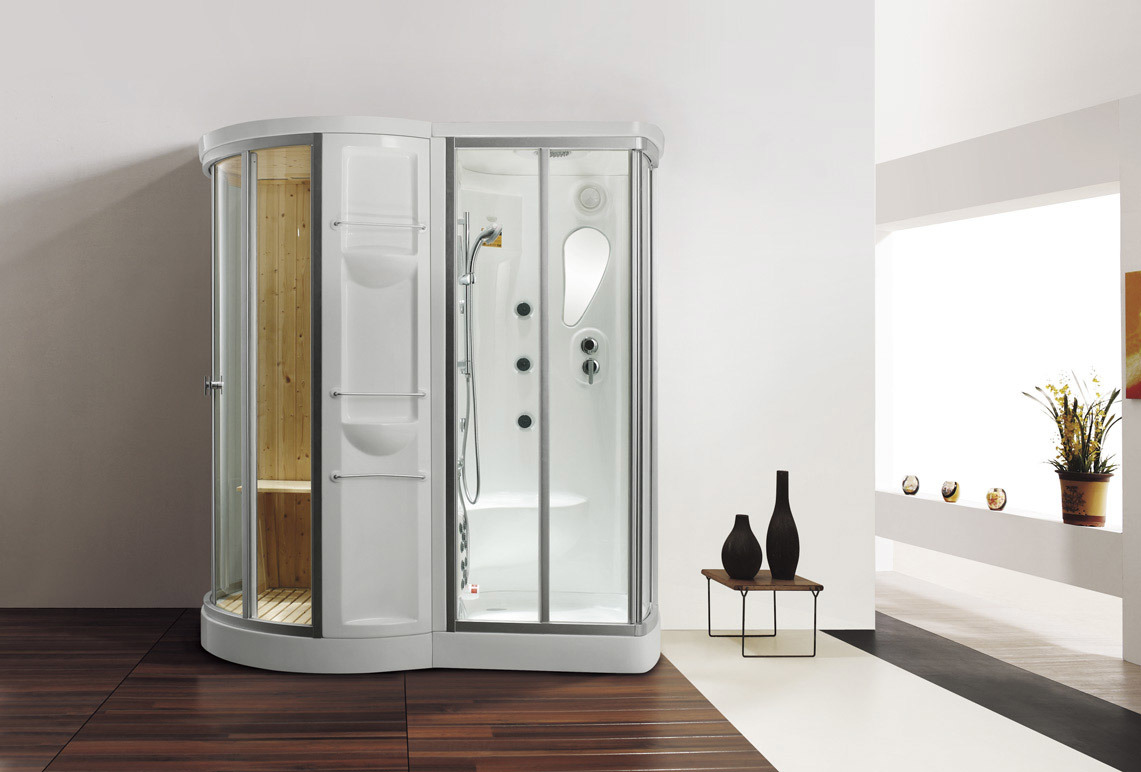 Economical Steam Shower Cabin with Sauna House (M-8252)