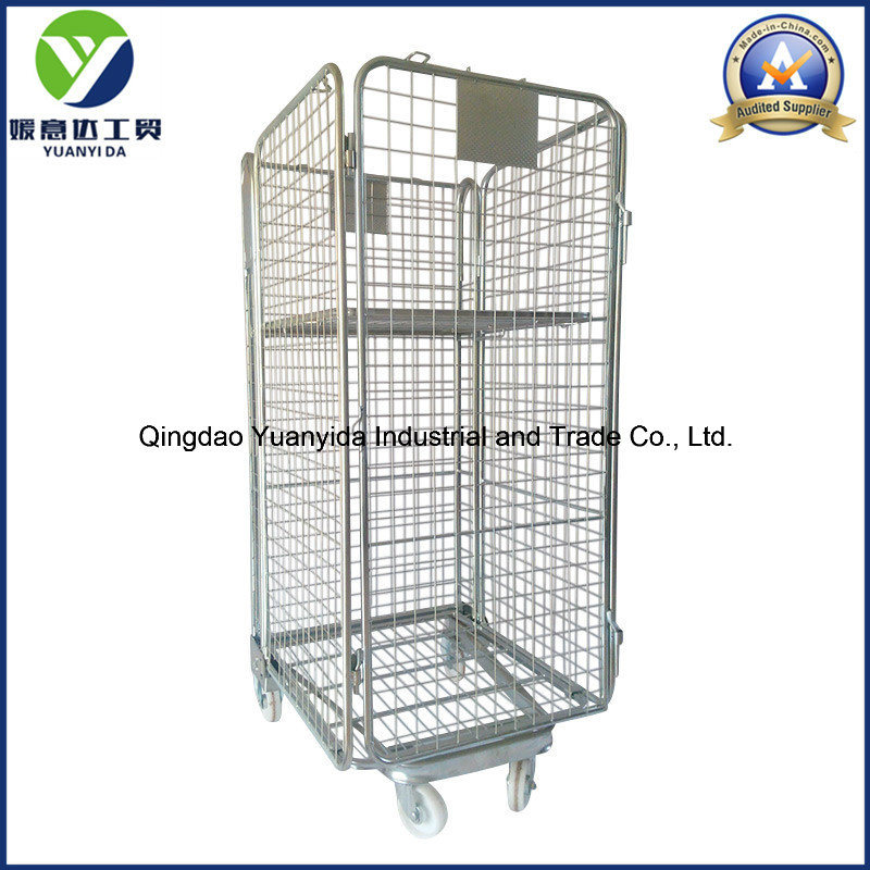 Full Side Security Logistic Storage Packing Trolley Roll Container