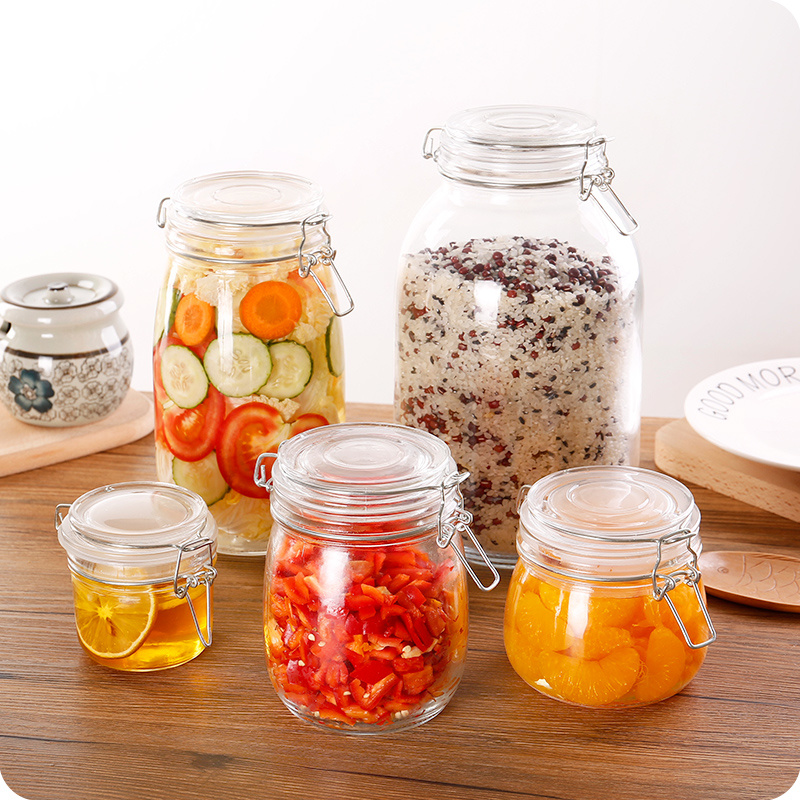 Hot Sell Clear Glass Storage Food Jar for Kitchenware