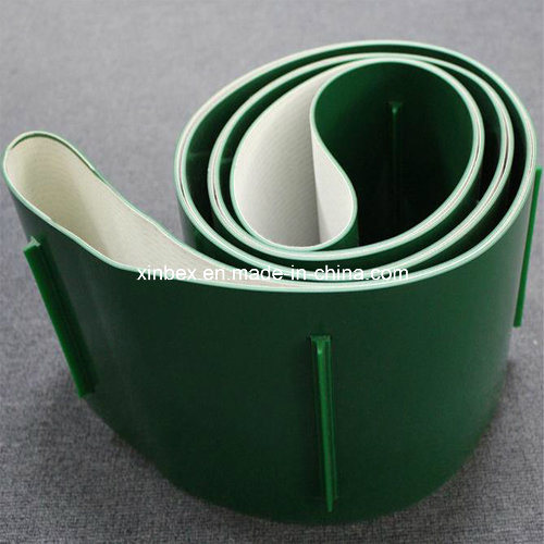 Incline Green PVC Cleats Guides Manufacturer Conveyor Belt