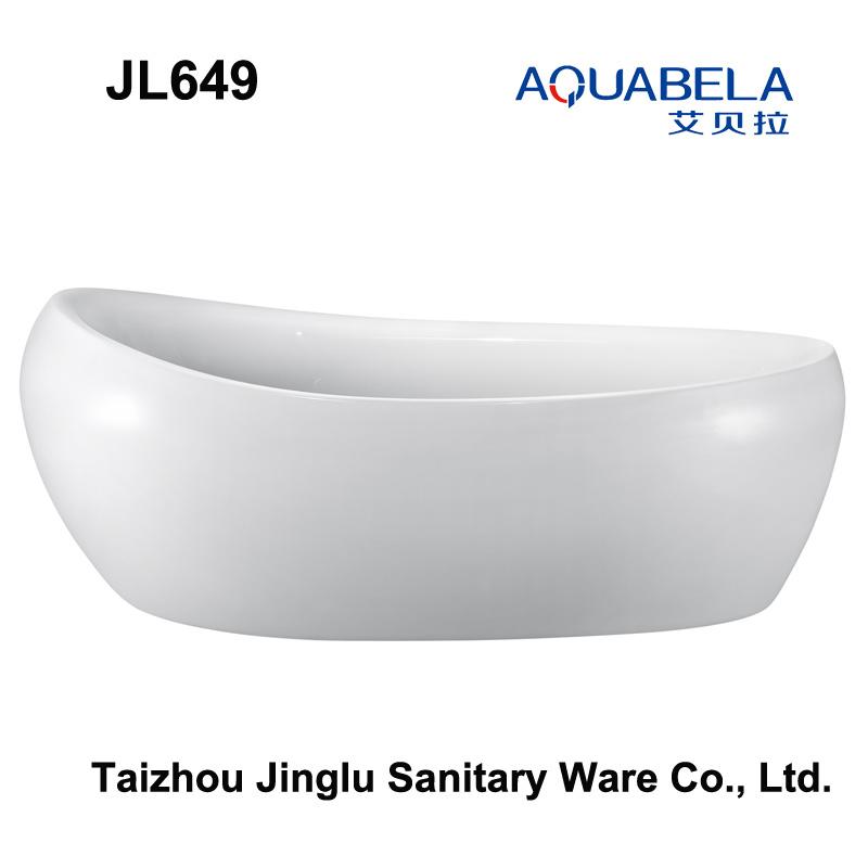 2017 New Egg Shape Freestanding Hot Tub Bathroom Bathtub (JL649)