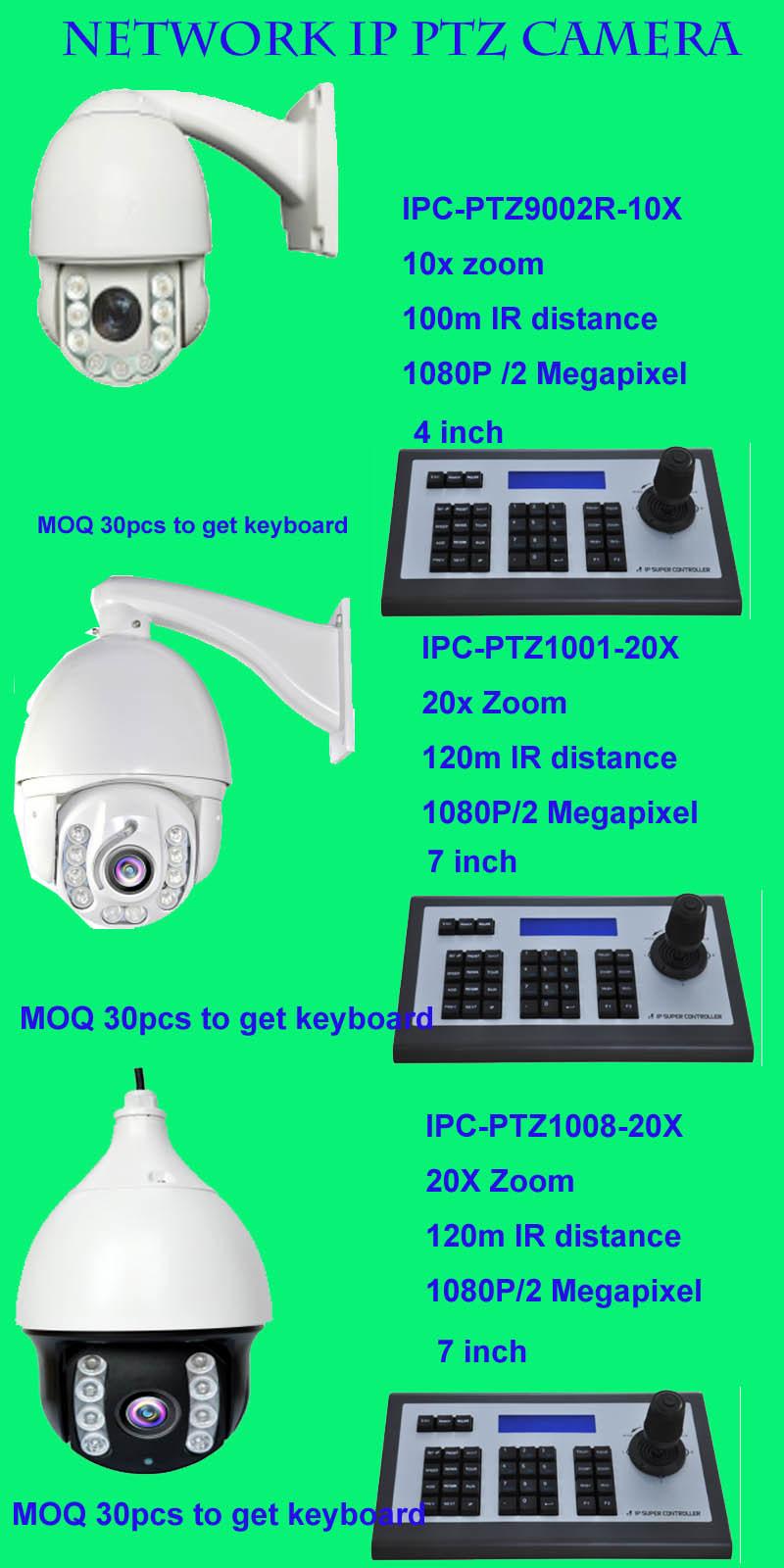 Mini 4X Auto Focus Auto Zoom Network IP PTZ Camera