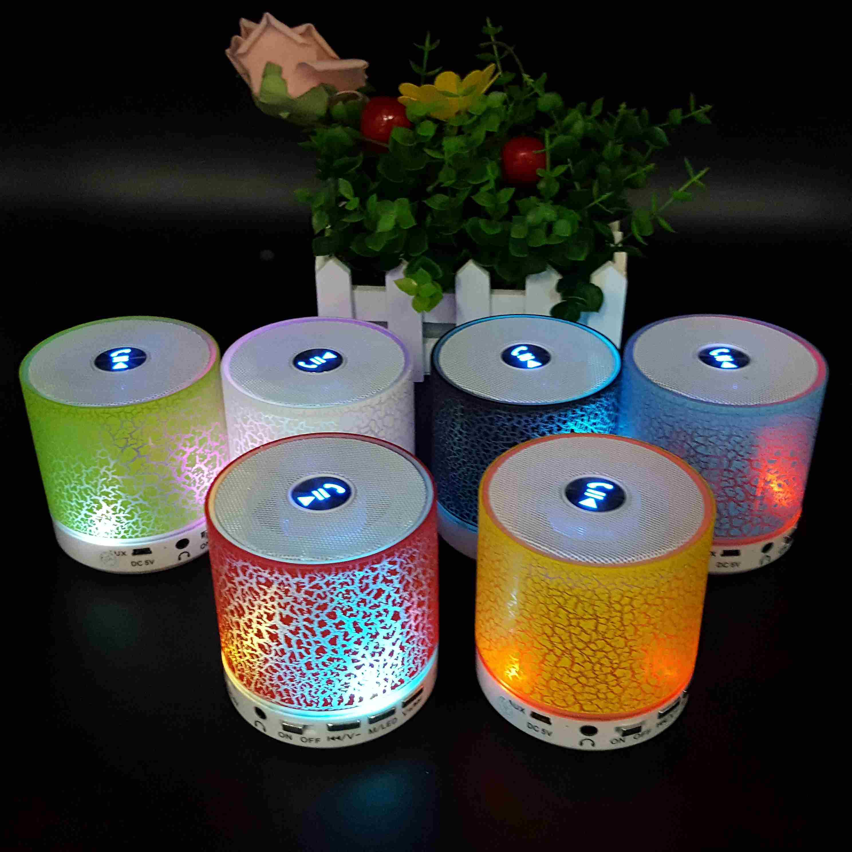 Mini Portable Loudspeaker USB Wireless LED Lighting Speaker