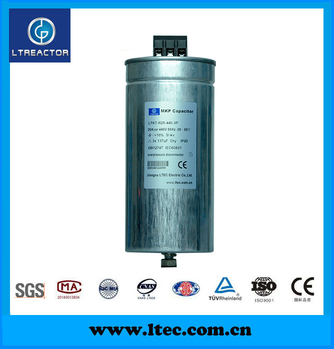 Three Phase Low-Voltage Power Capacitor Banks 50Hz 440V, 25kvar