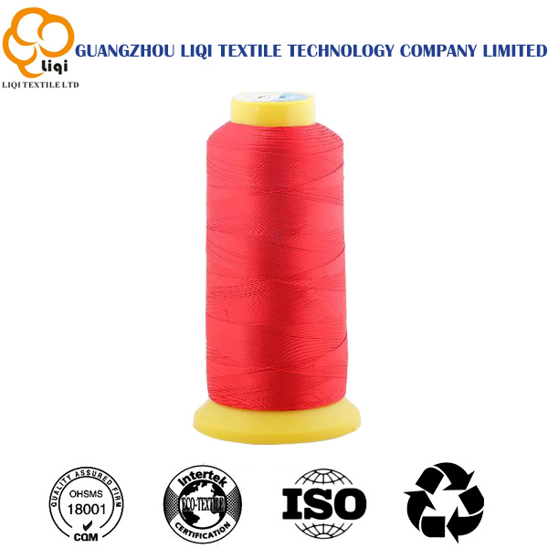 210d/3 High-Tenacity Polyester Filament Sewing Thread for Leather Bags
