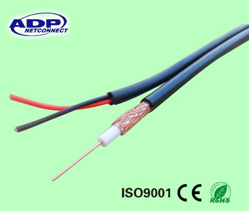 Rg59 Coaxial Cable with 2c Power Cable