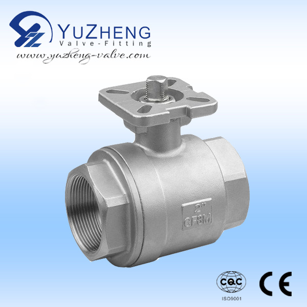 2PC Ball Valve with ISO Mounting Pad and CE Certificate