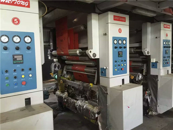 Old Multifunctional 10 Color Rotogravure Printing Machine in Sale