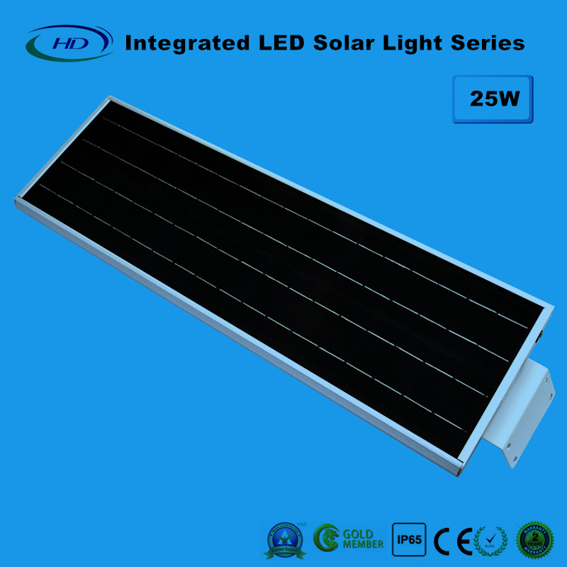25W PIR Sensor Integrated LED Solar Garden Light
