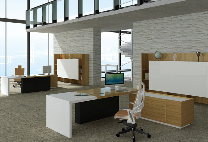 Modern MDF Melamine Wooden Office Table Fashion Office Furniture (HX-ET14010)