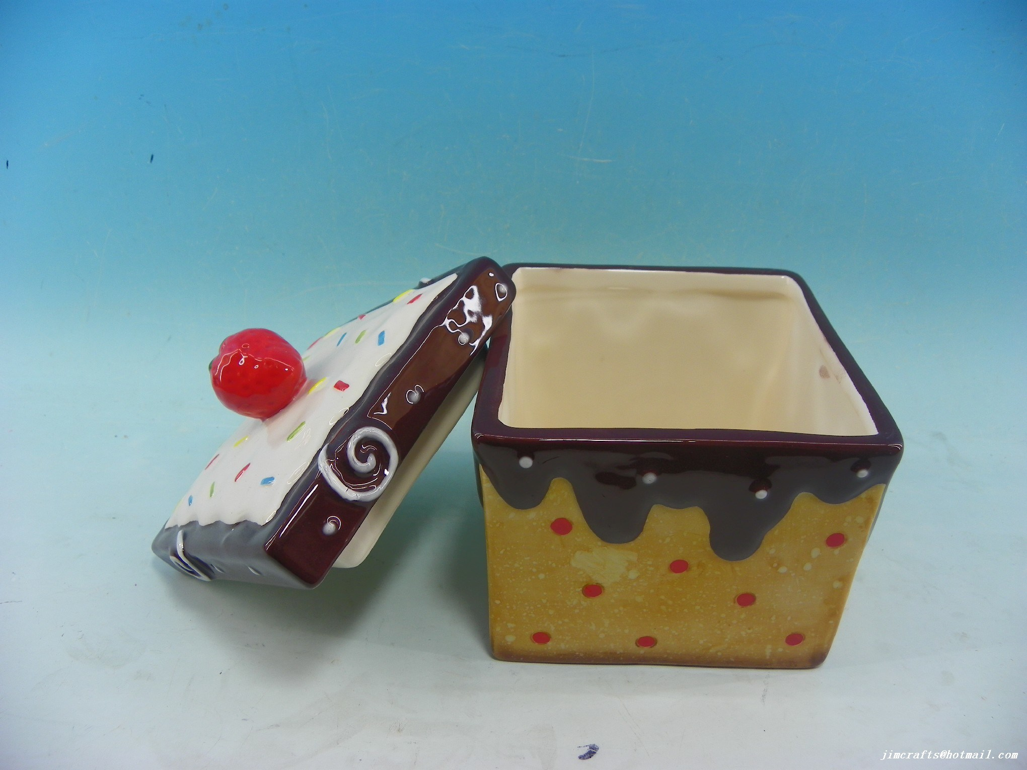 Best Selling Customized Ceramic Cake Cookie Candy Jar