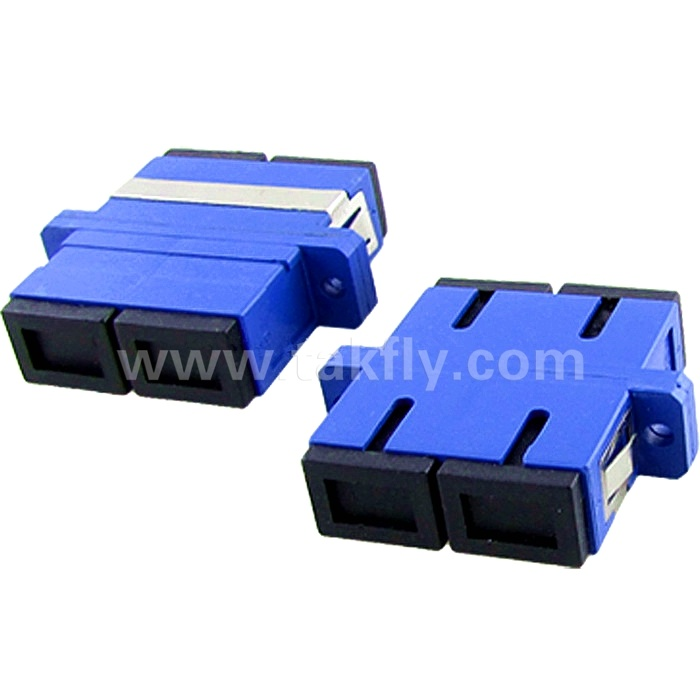Sc Duplex Panelmount Single Mode Fiber Optic Adapter