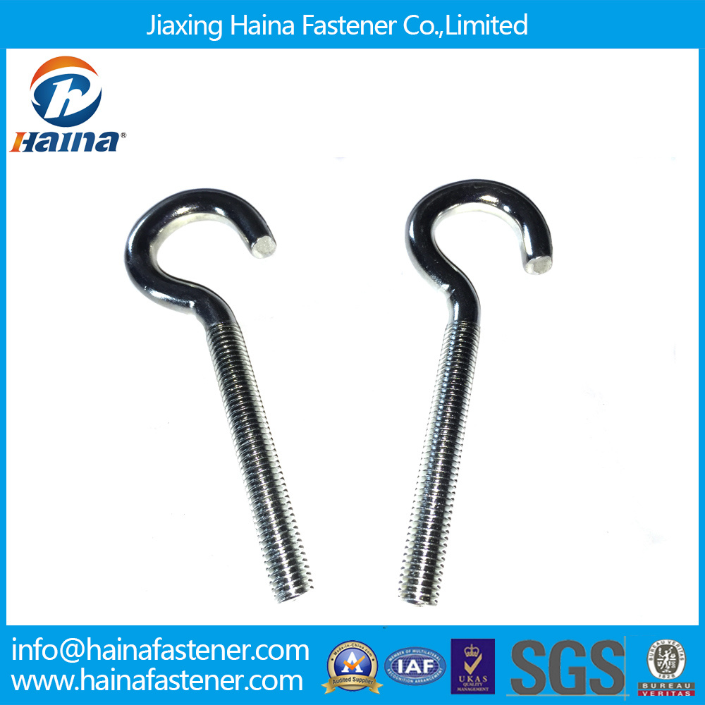 Zinc Plated/Galvanized Half Thread Ring Screws Eye Hook Screws Lag Eye Screws for Wood