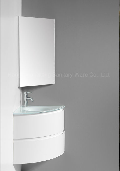 2017 Hot Selling Corner PVC Bathroom Cabinet with Mirror Cabinet