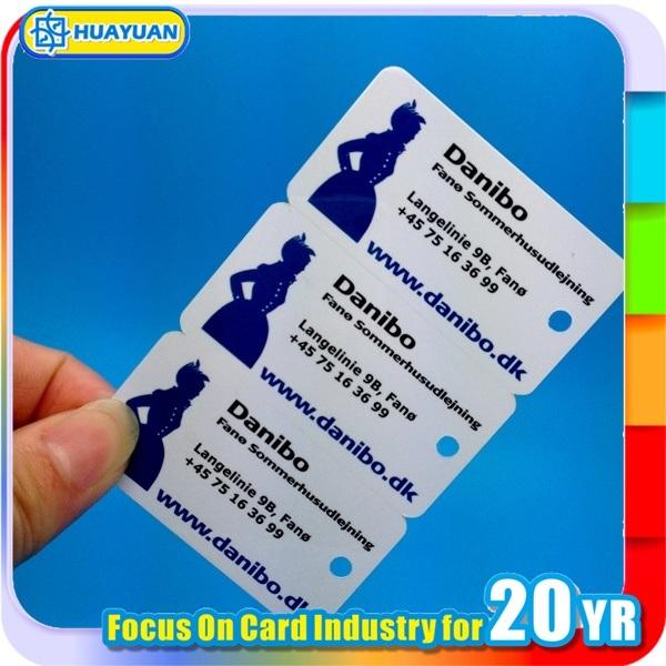 Preprinted 3 in 1 PVC loyalty Key Tag