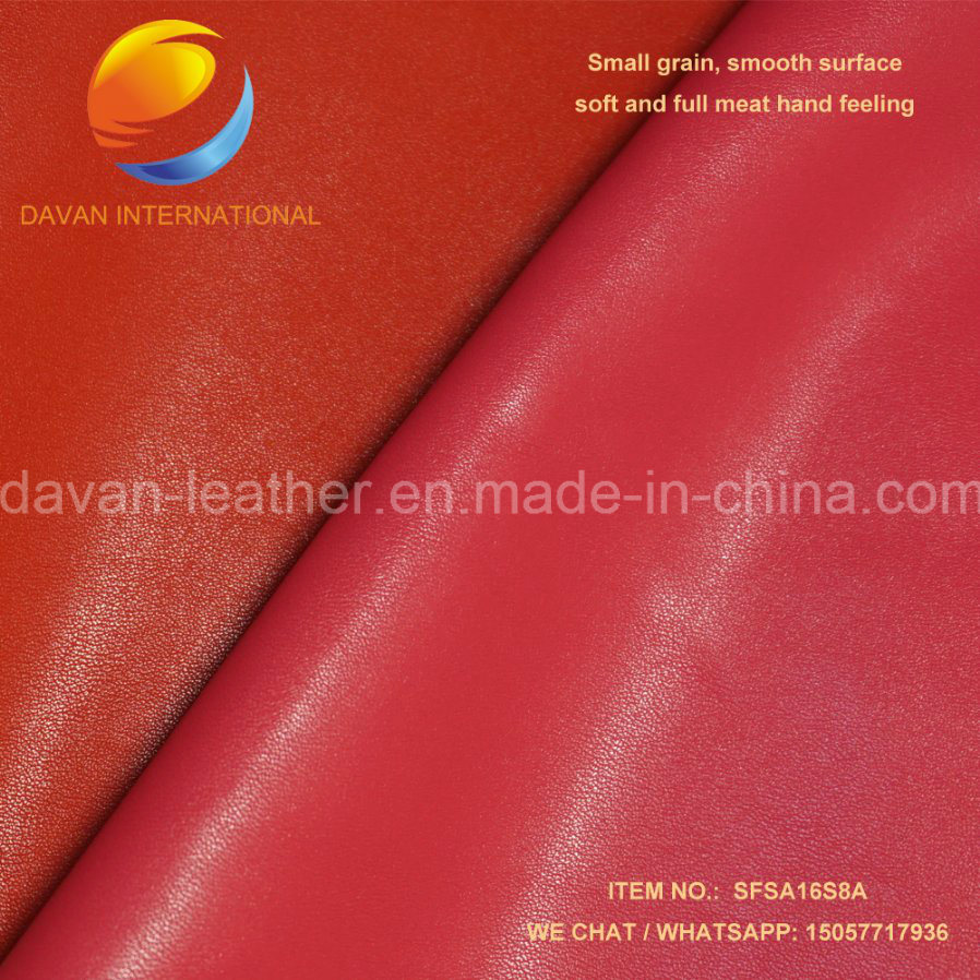 Artificial Leather with Polish Surface for Shoes
