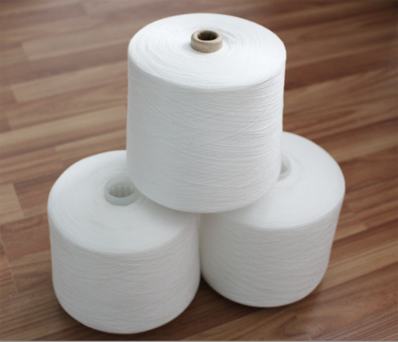 OEM 40s/2 Raw White 100% Virgin Spun Polyester Yarn with Paper Cone Polyeste Fiber Yarn
