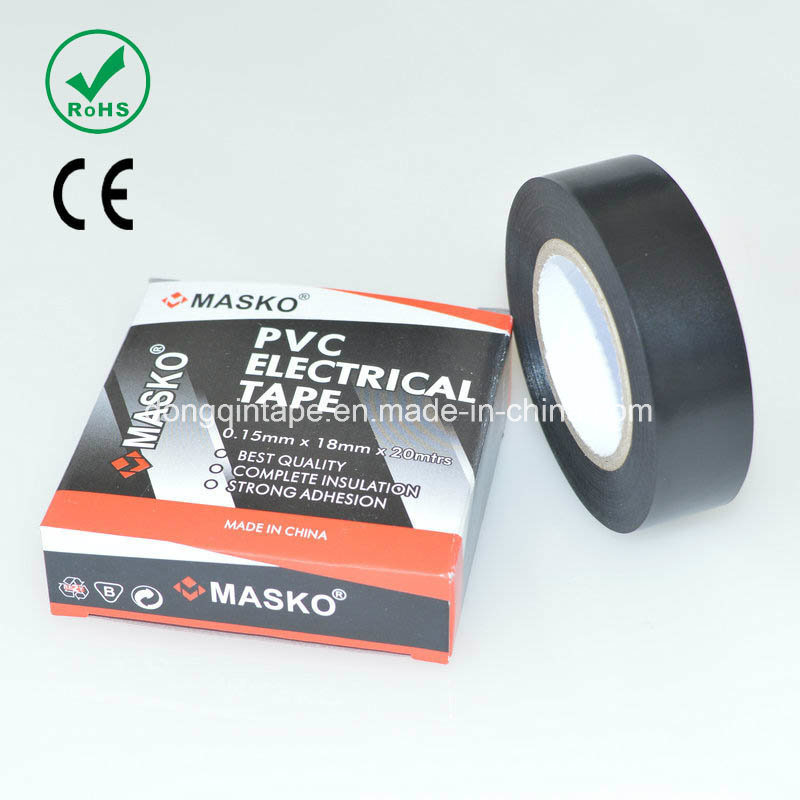 PVC Electrical Insulation Tape with Rubber Adhesive for Electrical Protection