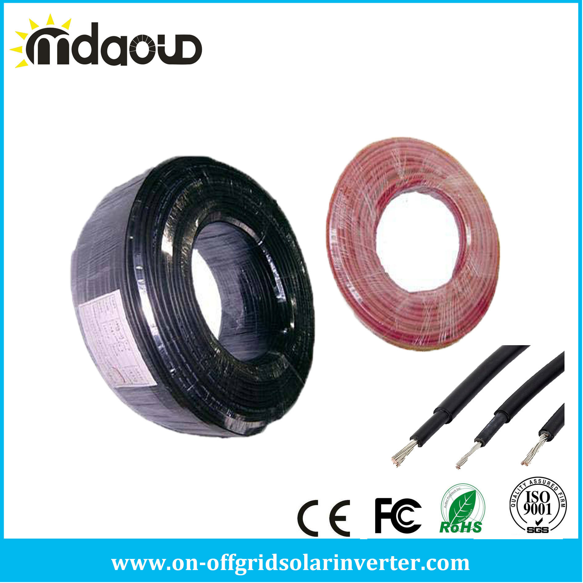 PV Solar Cable and Solar Panel Connector Wire Cable