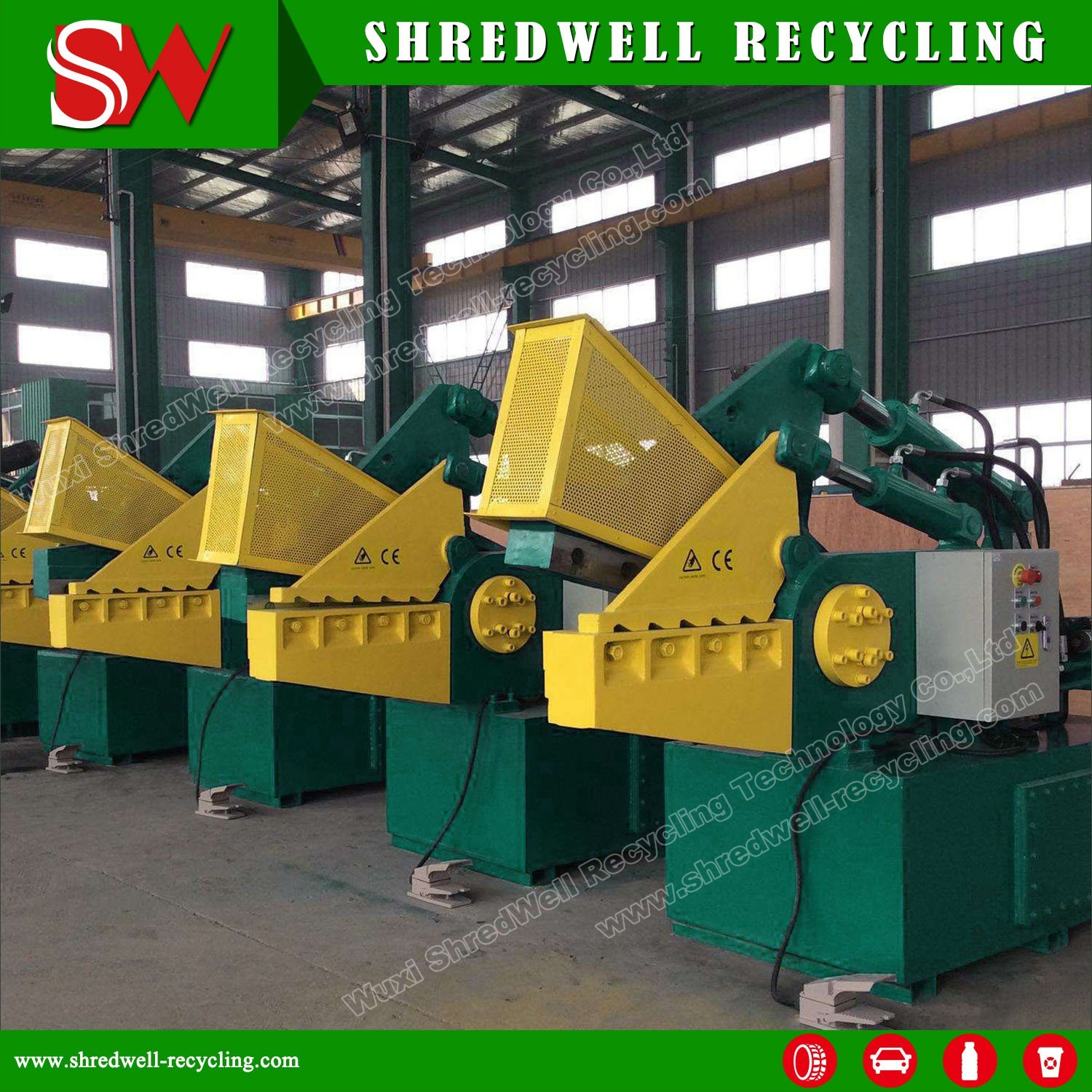 Hydraulic Scrap Metal Alligator Shear for Cutting Waste Steel/Aluminum/Iron/Copper